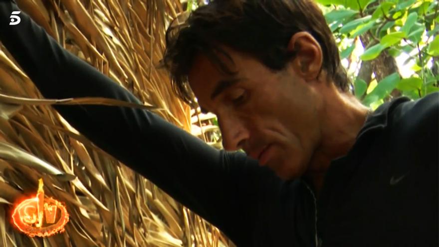 Hugo Sierra, en el momento de su ruptura con Ivana en Supervivientes