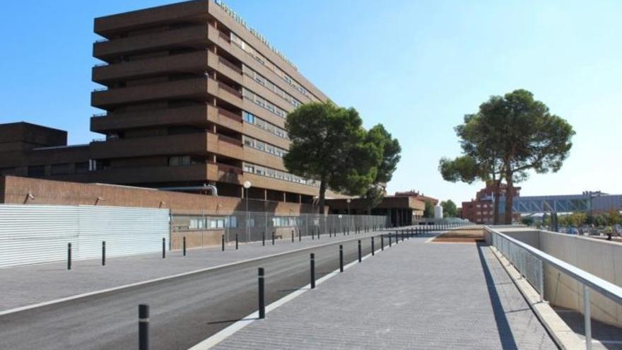 Hospital de Albacete tras finalizarse las obras de la primera fase.