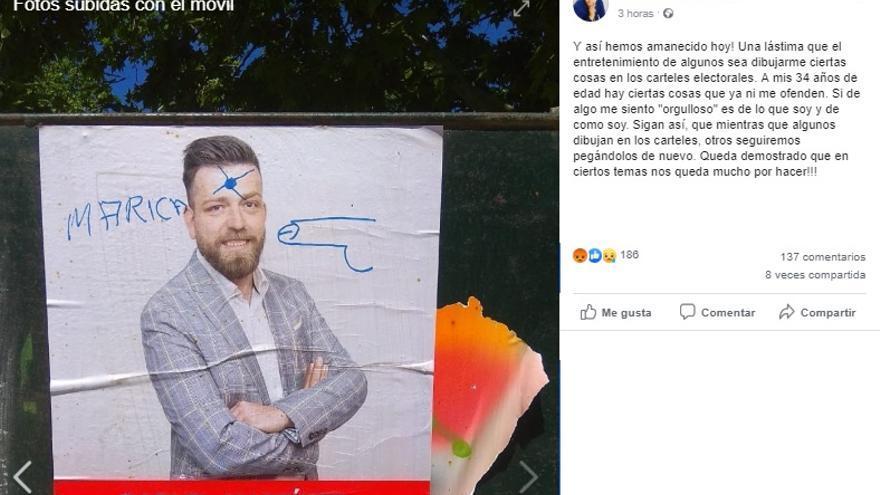 Perfil de Facebook del alcalde de San Martín de la Vega