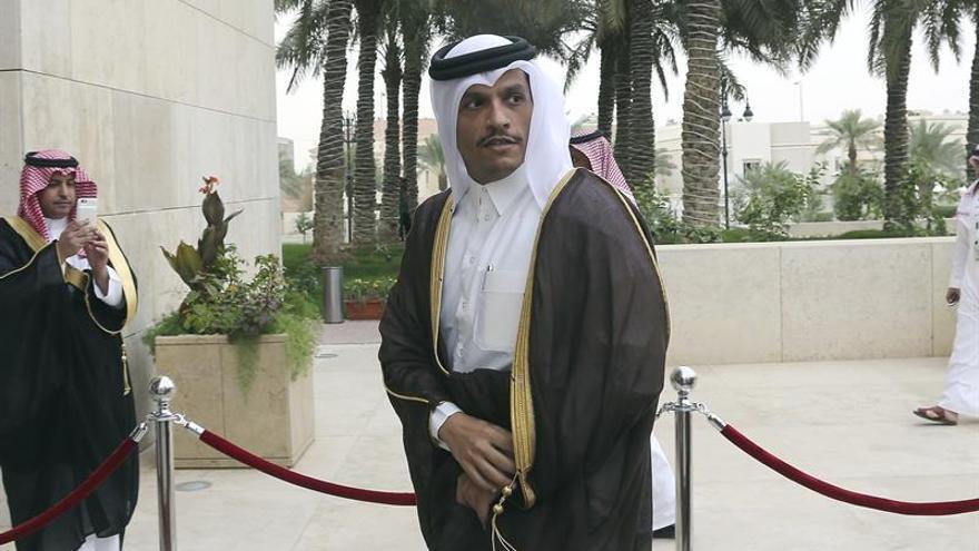 El ministro de Exteriores catarí,  Mohammed bin Abdul Rahman Al Thani