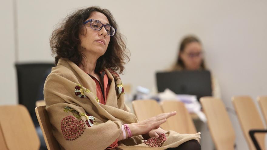 Elena Martín, hija del 'jefe' durante una sesión del juicio del caso Unión.