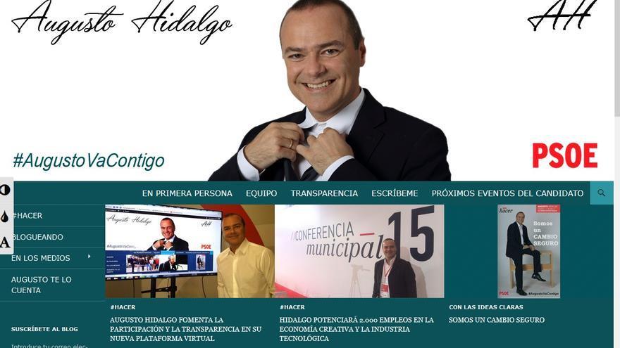 La nueva web de Augusto Hidalgo.