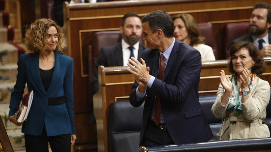 La cita entre Sánchez y Batet para poner fecha a la investidura, en el aire por la falta de acuerdo en la UE