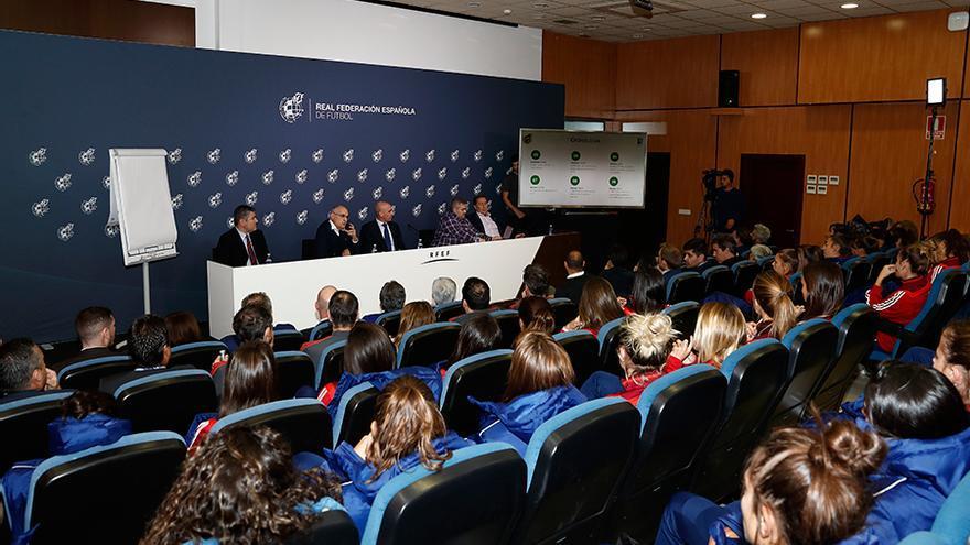 Reunión celebrada este miércoles en la sede de la Federación Española.