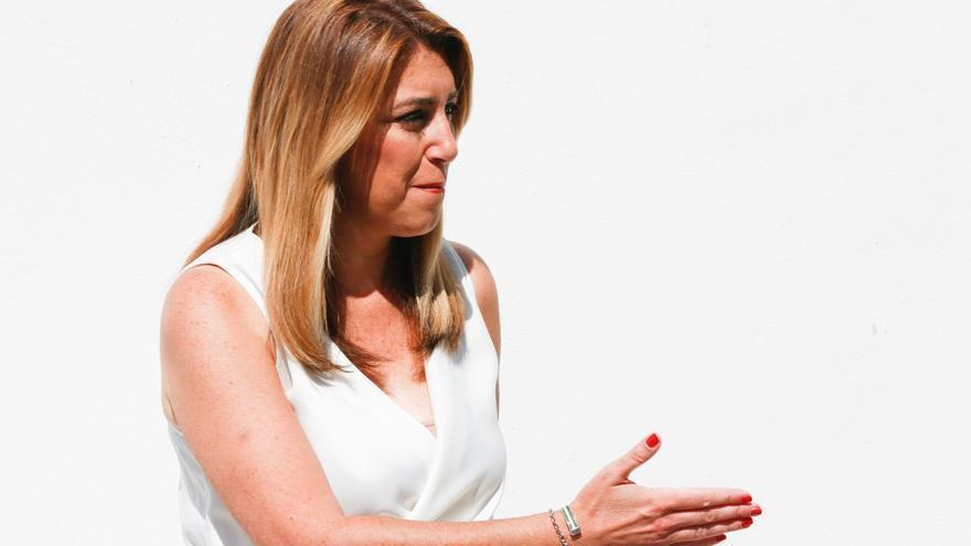 """Susana Díaz rechaza la """"brutal subida de aranceles de Trump a la aceituna negra"""" a la que hay que """"plantar cara"""""""
