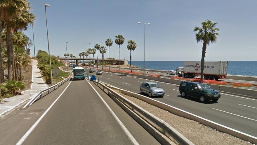 Avenida Marítima de Las Palmas de Gran Canaria, a la altura de Hoya de la Plata.