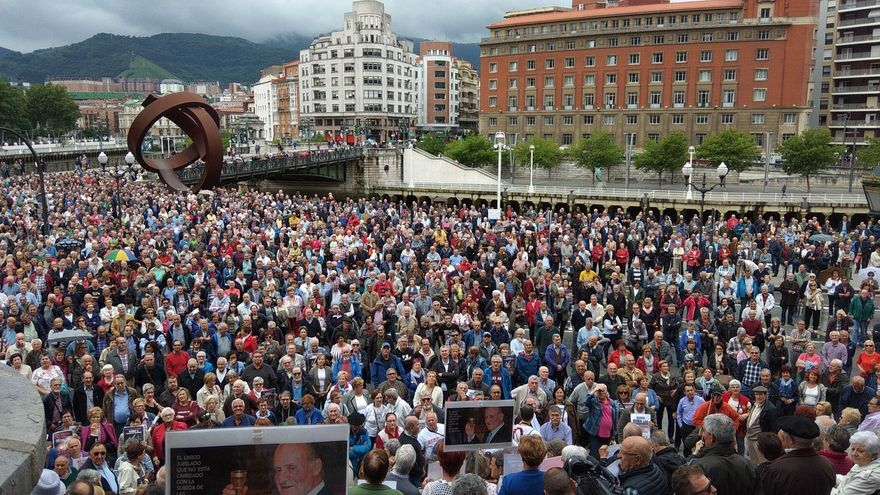 """Los pensionistas vascos seguirán """"en lucha"""" por una pensión mínima de 1.080 euros """"gobierne quien gobierne"""""""