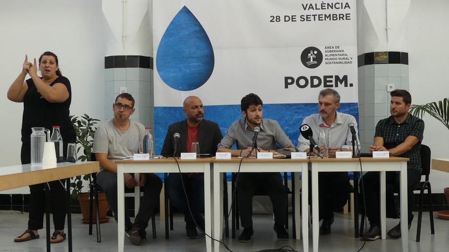 José García Molina en las Jornadas de Agua de Podemos