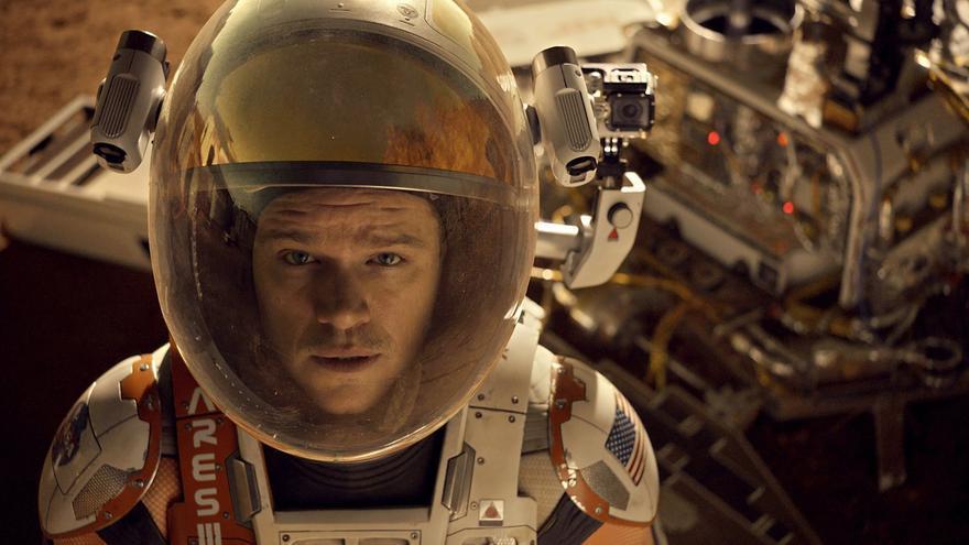 Matt Damon en la película Marte