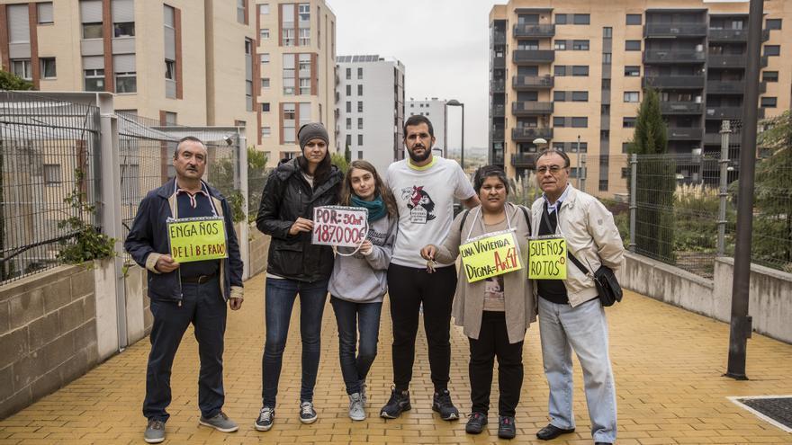 Protesta de vecinos de Tres Cantos contra los Fondos Buitre.