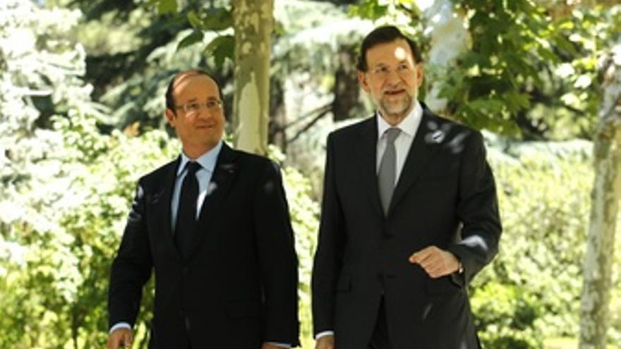 Rajoy recibe a Hollande en La Moncloa