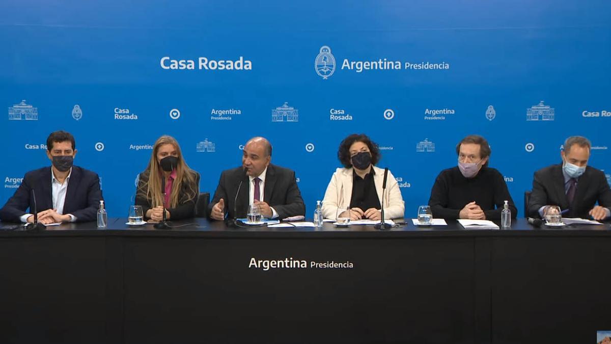 Conferencia de prensa de Manzur, Vizzotti y De Pedro