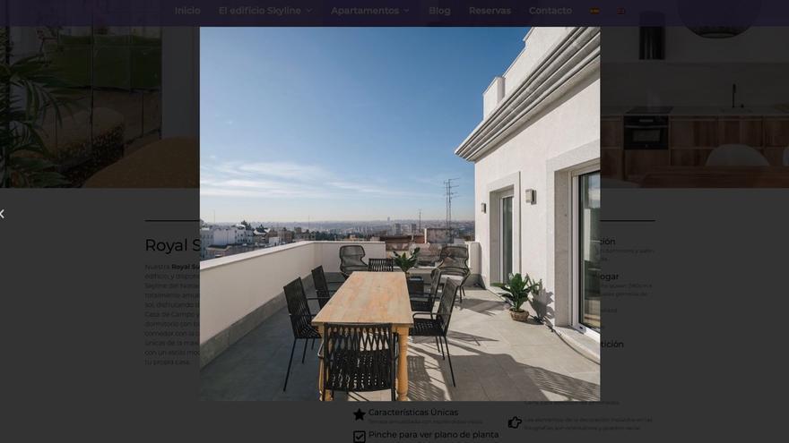 Captura de la web skylineplazaespana.com