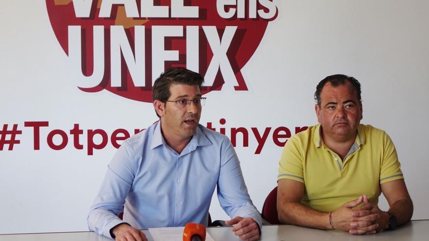 Jorge Rodríguez y Jordi Vila en la sede de la Vall ens Uneix