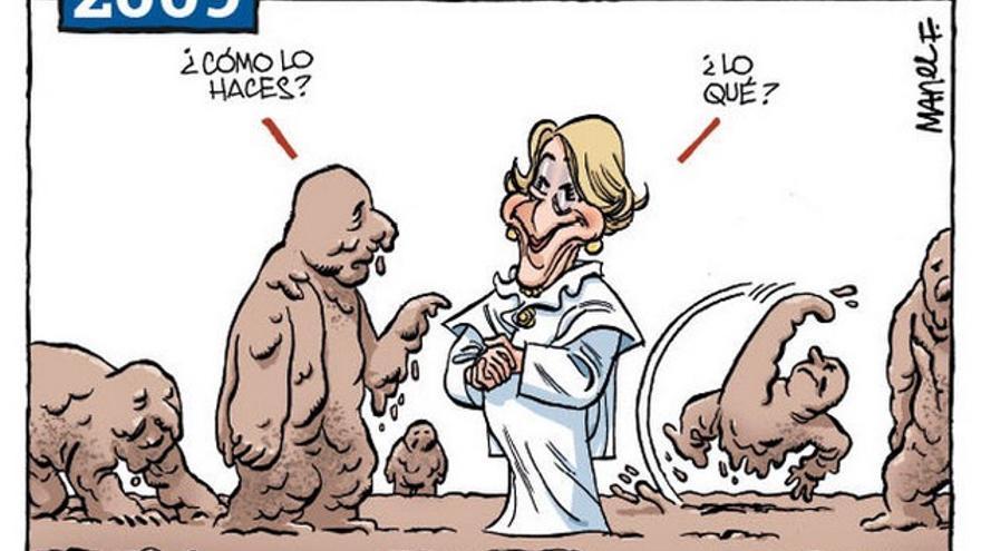 Así retrató Fontdevila a Aguirre en 2009