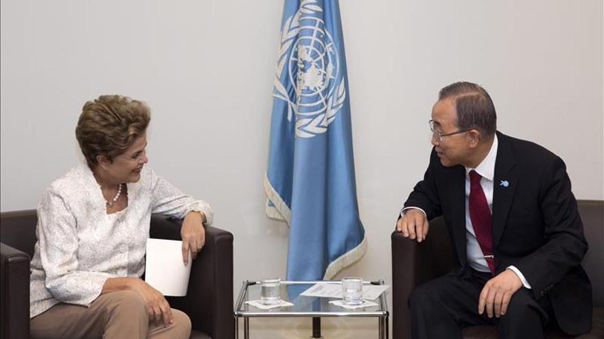Ban agradece a Rousseff la contribución de Brasil a la nueva agenda de desarrollo