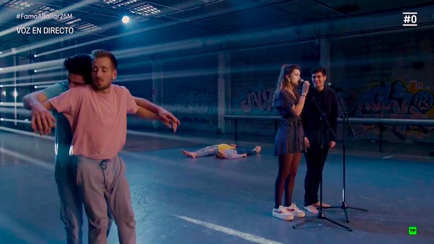 Así ha sido la 'canción' de Alfred y Amaia con la coreografía de los bailarines de Fama