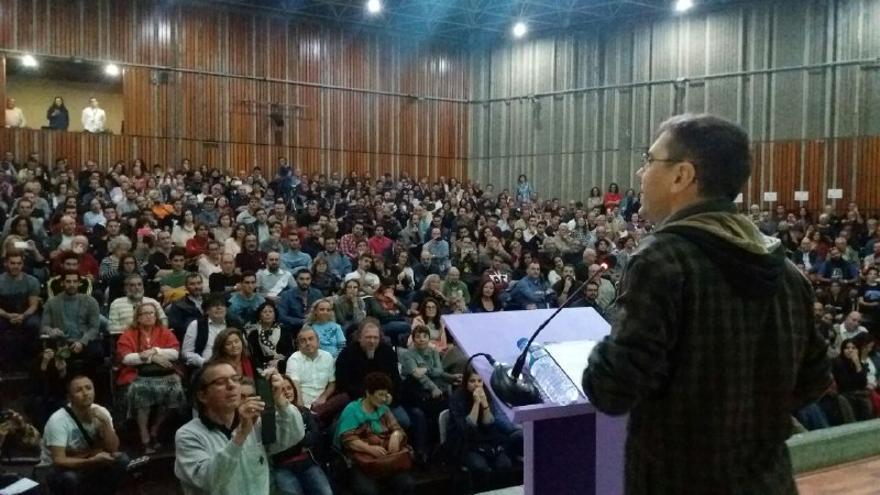 Juan Carlos Monedero en el acto celebrado en La Laguna