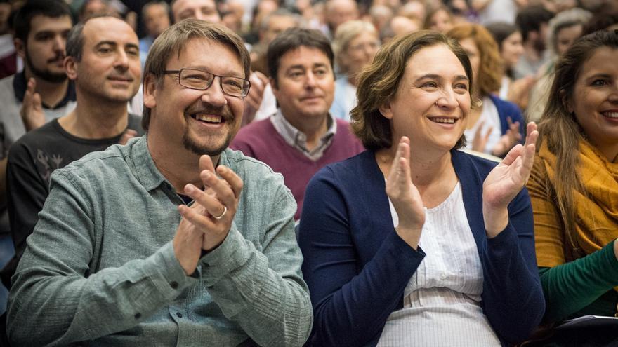 Ada Colau i Xavier Domenech a la 1ª Assamblea de Un País en Comú