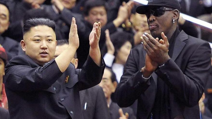"""Rodman defiende a gritos que ir a Pyongyang es una """"gran idea para el mundo"""""""