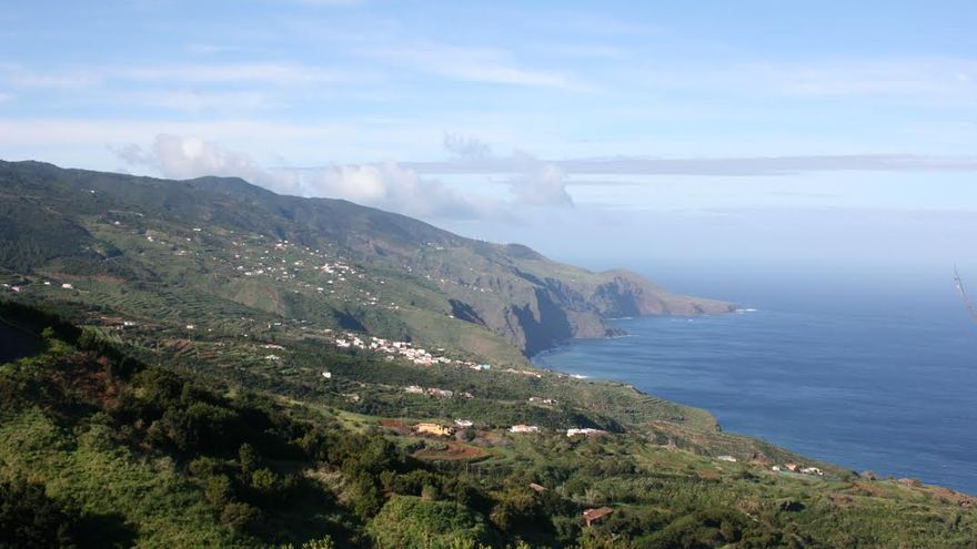 Panorámica de la costa del Norte de La Palma.