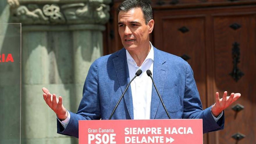 Pedro Sánchez, en Gran Canaria