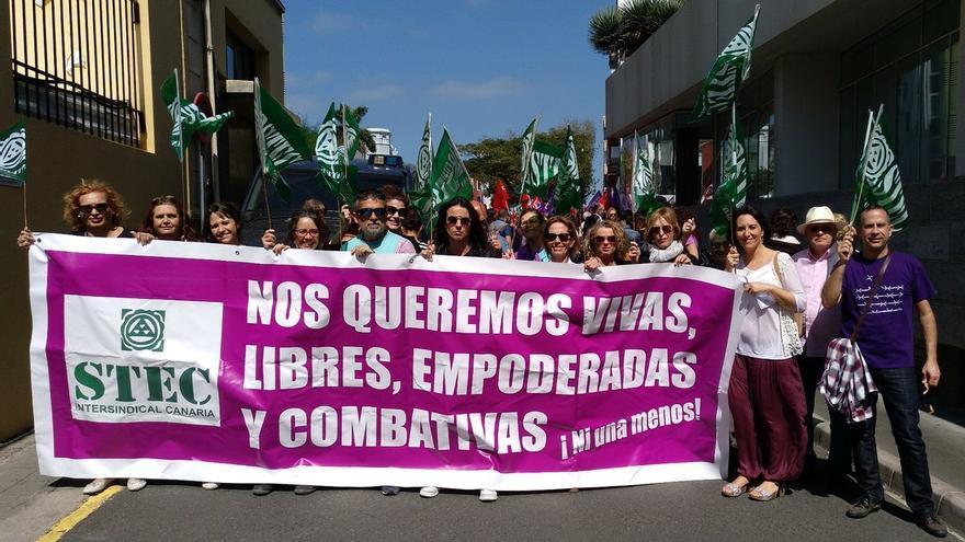 El sindicato apoya la huelga feminista.