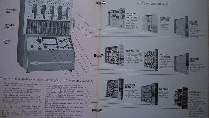 Manual de una calculadora analógica de Electronic Asscociates, 1964