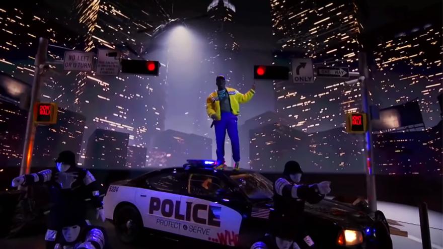 DaBaby, durante su actuación en los MTV VMA 2020