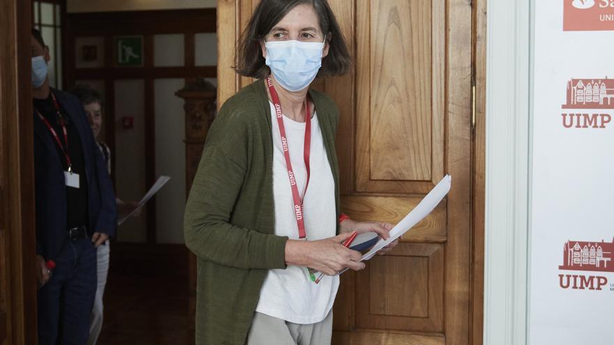 La rectora de la Universidad Internacional Menéndez Pelayo, María Luz Morán Calvo-Sotelo