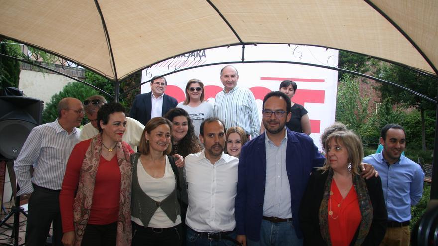 Antonio Hernando, Pablo Bellido y Riansares Serrano / PSOE Guadalajara