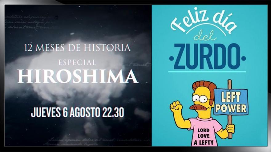"""Hiroshima y el Día del zurdo, dos efemérides """"usadas"""" por cadenas"""