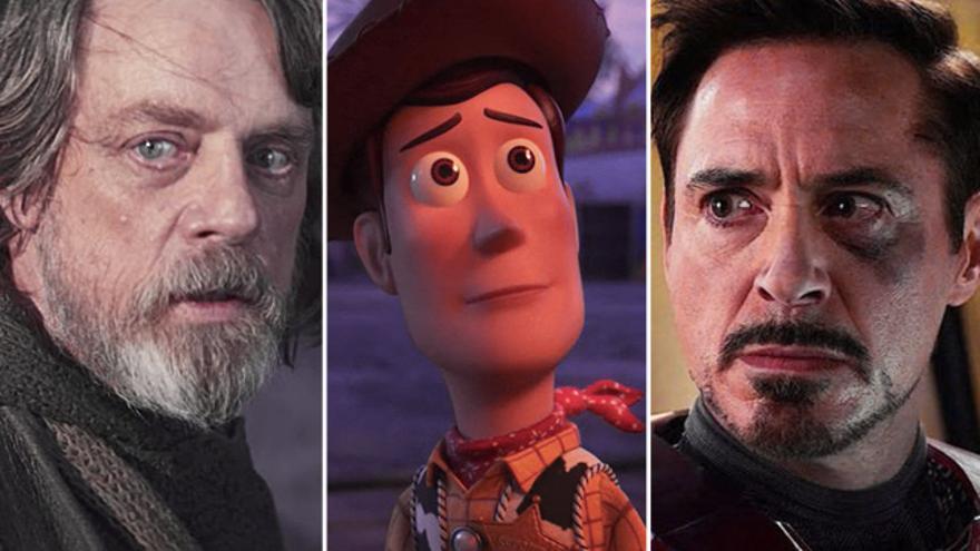 Luke Skywalker, Woody y Tony Stark, símbolos de una generación que está renovando sus referentes