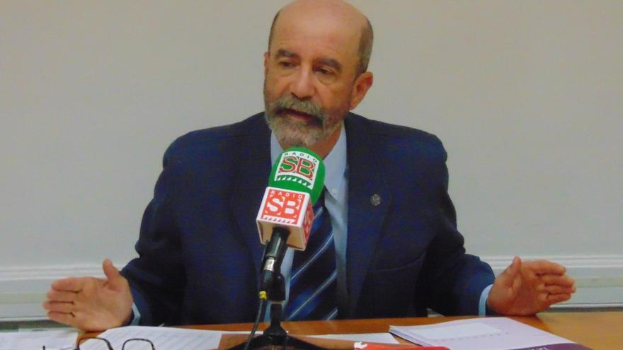 Santiago Pérez, en la rueda de prensa celebrada este miércoles