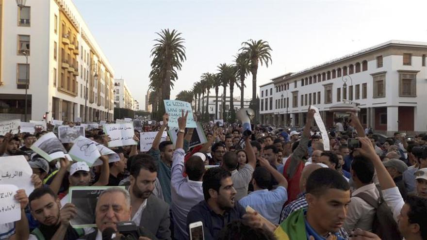 Once detenidos en protestas en Marruecos por la muerte de un joven dentro de camión de basura