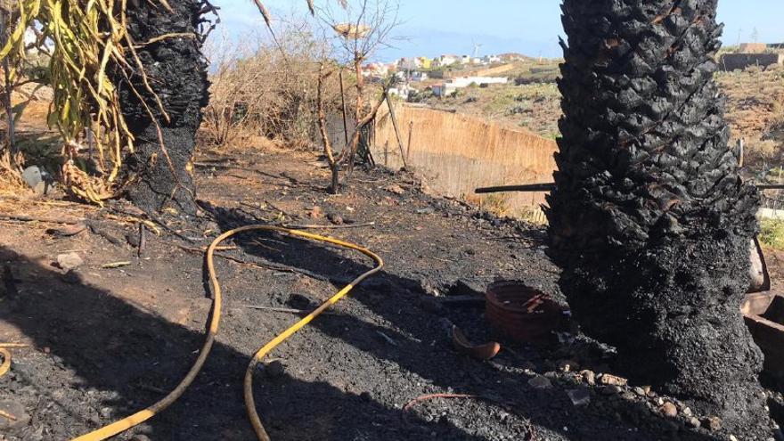 Incendio agrícola en Ingenio, Gran Canaria.