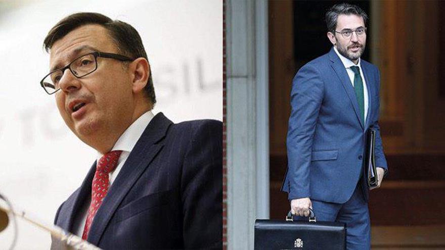 Román Escolano y Màxim Huerta, los dos ministros más recientes que han pasado a la historia por ser de los más breves de la democracia