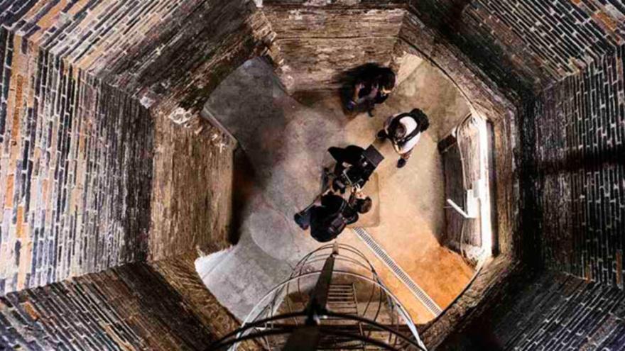 Imagen de la grabación del documental