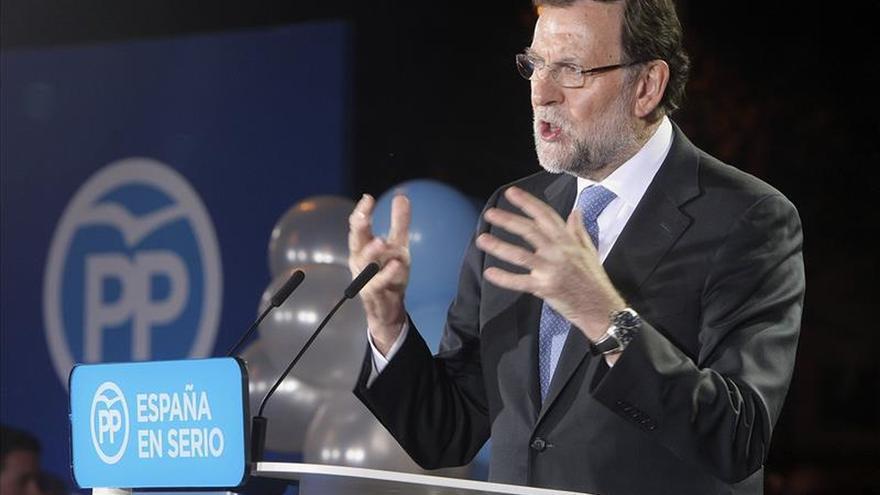 Mariano Rajoy durante el acto central de campaña del PP