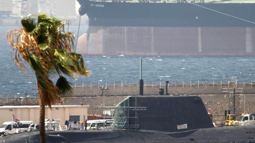 El submarino nuclear británico zarpa de Gibraltar hacia el Reino Unido
