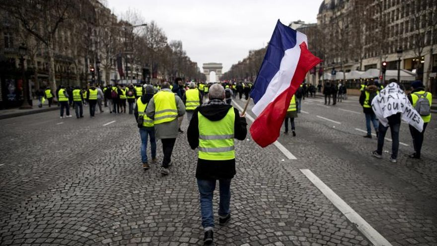 """Los """"chalecos amarillos"""", una bomba de relojería antes de las elecciones europeas"""