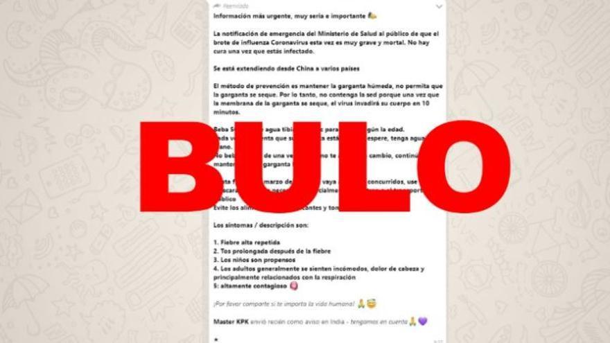 """El Ministerio de Sanidad español no ha emitido """"ninguna notificación de emergencia"""""""