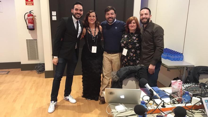 El equipo de Kinótico, en los Goya 2017