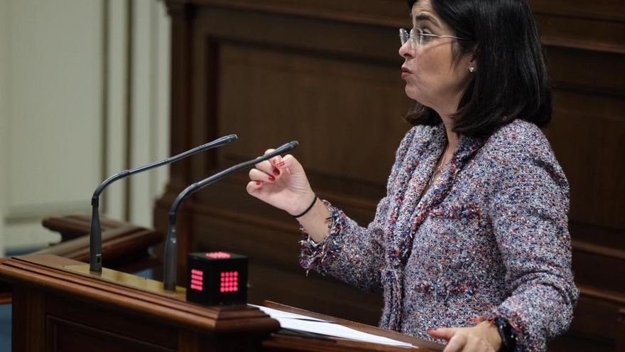 Carolina Darias, consejera de Economía, Conocimiento y Empleo  del Gobierno de Canarias.