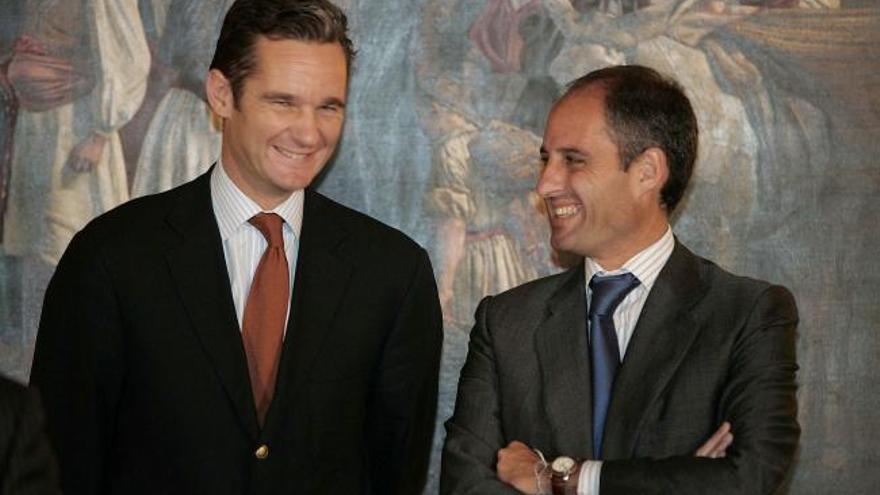 Iñaki Urdangarín y Francisco Camps