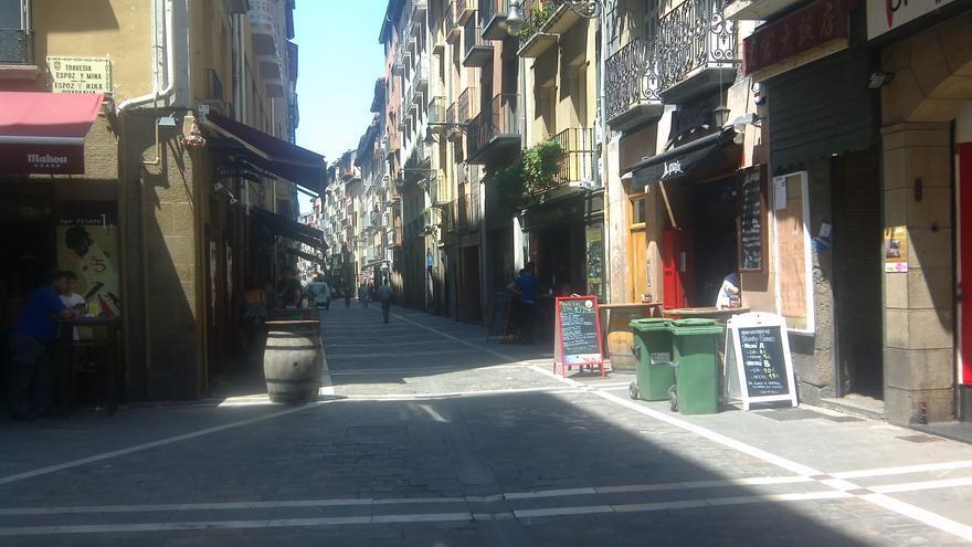 Establecimientos hosteleros en la calle Estafeta.