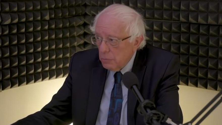 Bernie Sanders en una imagen de un streaming reciente.