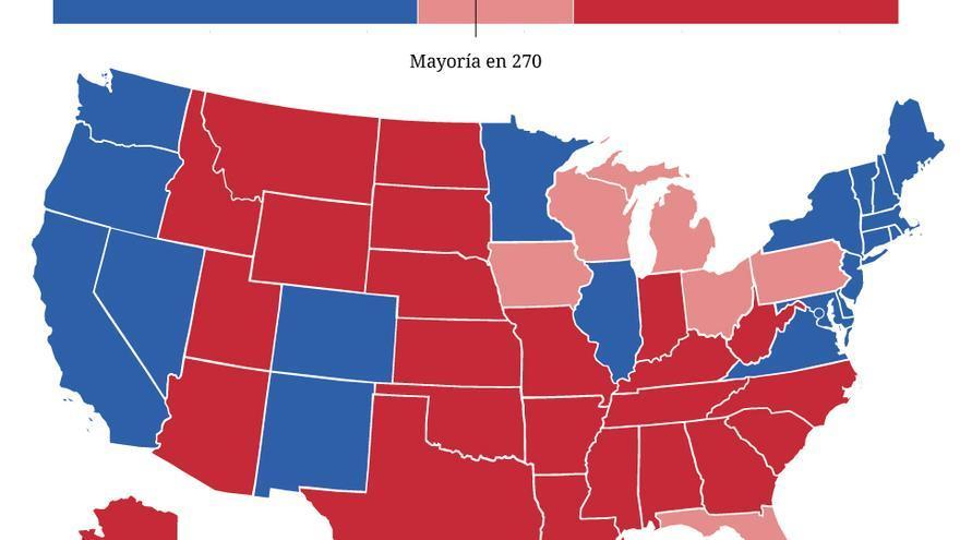 Dónde consiguió Trump la victoria