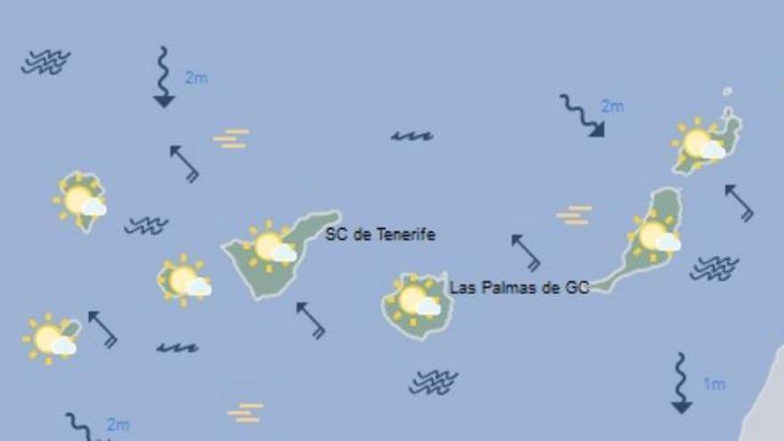 Tiempo en Canarias para este miércoles, 28 de diciembre