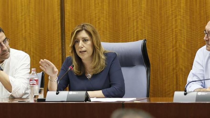 """Díaz pide a sus diputados """"redoblar esfuerzos"""" en defensa intereses Andalucía"""